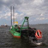 販売のための強力で、大きい容量のカッターの吸引の浚渫船
