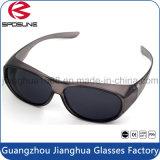 La visión de Brightlook de la novedad muestrea el clip en la manera bifocal del marco de los vidrios de la lente gris del negro que completa un ciclo conduciendo las gafas de sol