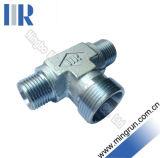 Metric Bite type Tee Reducer Hydraulic tube Tee adapter (AC)