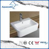 Dissipador de lavagem cerâmico da bacia da arte do gabinete e da mão do avental (ACB8169)
