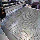 Máquina de estaca de oscilação da faca 12016 do CNC para a matéria têxtil da tela com cabeças de estaca duplas