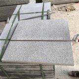 Piedra de pavimentación flameada granito gris oscuro G654 para la calzada, patio, piscina