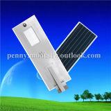 100Wは統合した庭(HXXY-ISSL-100)のための1つのLEDの太陽街灯のすべてを