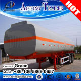 remorque liquide chimique d'essence et d'huile de camion de réservoir d'acier du carbone 45000L à vendre