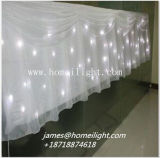 Cortina branca da estrela do diodo emissor de luz para o casamento/a luz estágio do partido/disco