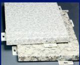 La couleur en bois Alumium décoratif lambrisse le mur rideau solide en aluminium de panneaux