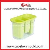 Molde plástico del rectángulo del cubo de hielo de la inyección de la alta calidad en China