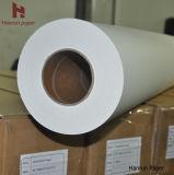 """64 """"幅ロール45GSM、50、60、70、80g、90gの100GSM高速印刷の昇華織物のための速い乾燥した昇華転写紙のジャンボロール"""