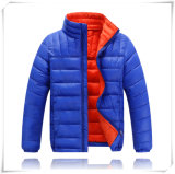 A roupa ao ar livre tosa para baixo o revestimento de Hoodie da grade do inverno para a mulher do homem