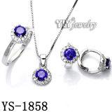 925 Sterling Silver를 가진 색깔 Stone Jewelry Set