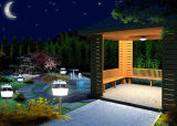 Solar LED Garden Courtyard Lawn Lantern Light com assassino repelente de mosquitos