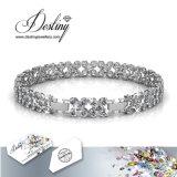 Het Kristal van de Juwelen van het lot van Bloemrijke Armband Swarovski