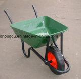Carrinho de mão de roda revestido da bandeja do pó estável de África da estrutura