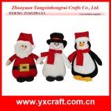 Ornamento enchido decoração da novidade do Natal da decoração do Natal (ZY11S244-1-2-3)