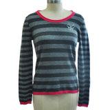 Kaschmir-gestreifte Pullover-Frauen-Strickwaren 100%