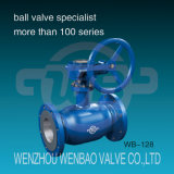 GOST Gear Operated Standard Port All Welded Flanged Ball Valve