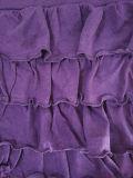 Frauen-Form-Kleid-Baumwollmittlere Taillen-Minifußleiste