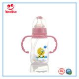 Normal Neck PP Garrafa de leite para bebés com alças 120ml