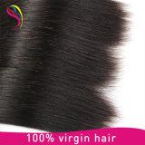 Extensão brasileira do cabelo humano de Remy do Virgin reto de seda da onda