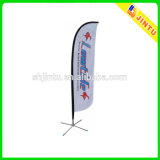 Vinyl su ordinazione Outdoor Advertizing Beach Flag per Promotion