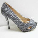 Повелительница ботинок платья женщин пальца ноги щели высокой пятки с платформой