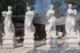 Découpant la statue de marbre en pierre de sculpture pour la décoration de jardin (SY-X1760)