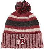 Coutume de qualité tricotant le chapeau acrylique de Beanie