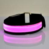 Wristbands infiammanti variopinti di nylon del LED