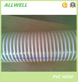 PVC 플라스틱 유연한 나선에 의하여 강화되는 분말 물 흡입관 호스