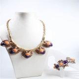 Conjunto de acrílico de la joyería de la manera del collar de la pulsera del pendiente de la nueva resina del item