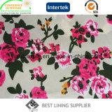 Glänzendes schönes gedrucktes Futter des Polyester-100