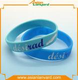 Wristband colorido do silicone da forma a mais atrasada do projeto
