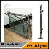 Balaustrada de vidro dos trilhos do aço inoxidável