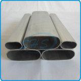 Tubos ovales inoxidables del plano de acero para los muebles
