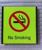 Aluminiuminnenflaches Nichtraucherzeichen