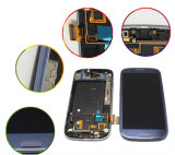 Samsung S3のためのフレームが付いている青い置換LCDのタッチ画面
