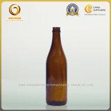 熱い販売の空500mlこはく色のビール瓶(047)
