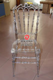 Factory PriceのRentalのための明確なCrystal Resin Banquent Chair