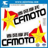 Ninguna etiqueta engomada de la motocicleta ATV de la impresión de la pantalla de MOQ