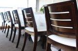 Cadeira estofada da igreja da capela da madeira contínua da noz da alta qualidade tampa de linho