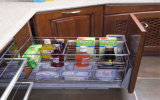Armário da cozinha da madeira contínua (zq-001)
