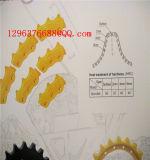 A máquina da construção parte o tensor dianteiro das peças sobresselentes Digger do Backhoe