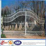 Puerta blanca práctica ornamental del hierro labrado (dhgate-29)