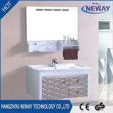 Governo di plastica di vanità della stanza da bagno semplice della parete con il Governo laterale