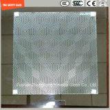 la stampa del Silkscreen di 3-19mm/incissione all'acquaforte acida/hanno glassato/piano del reticolo/hanno piegato Tempered/vetro temperato per il divisorio/portello/finestra/acquazzone con il certificato di SGCC/Ce&CCC&ISO
