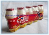 De automatische Drank, het Zij Horizontaal Verzegelen van de Fles Yakult krimpt de Verpakkende Machine van de Verpakking