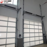Промышленная автоматическая алюминиевая раздвижная дверь прозрачных панелей рамки