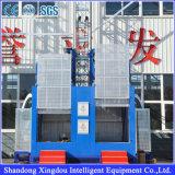 Alzamiento doble del edificio de la construcción de la fabricación de las jaulas