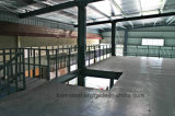El almacén de acero con acero prefabricado tachona la oficina del marco