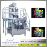 Flüssige Reißverschluss-Beutel-Verpackungsmaschine mit Flüssigkeit-und Pasten-Einfüllstutzen